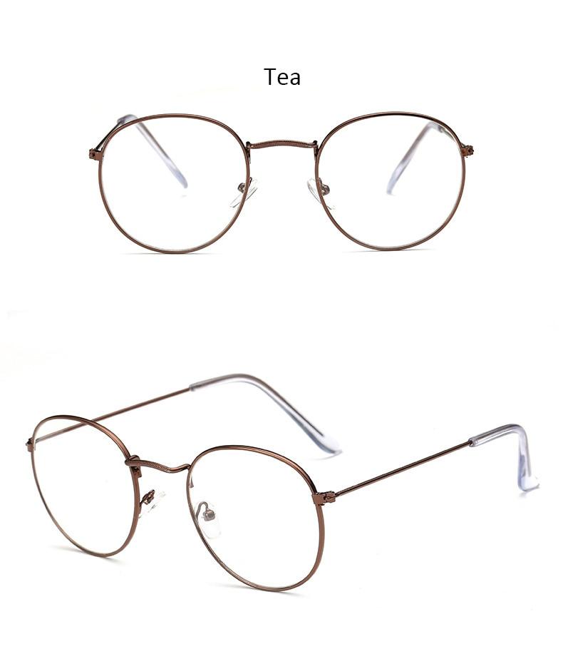 Fashion glasses frame Classic Round Women's Metal frame Optical Glasses Computer blue light Glasses oval eyeglasses frame Retro (16)