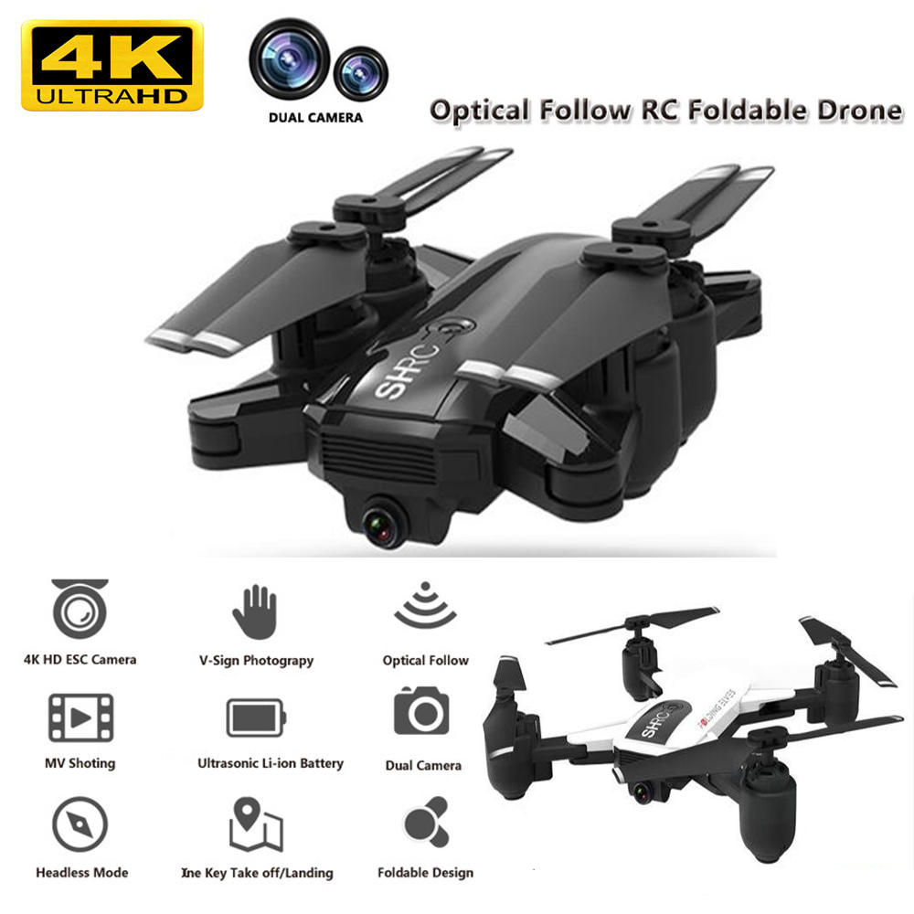 Profession WIFI FPV With 4K Camera Wide Angle HD Hight Hold Mode Foldable Arm RC Quadcopter Drone X Pro RTF Dron For Gift image