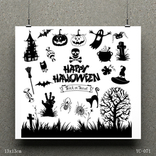 AZSG Halloween death Clear Stamps/seal for DIY Scrapbooking/Card Making/Photo Album Decoration Supplies