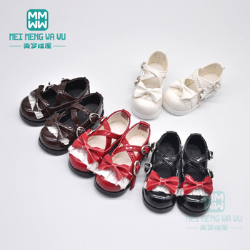 6cm*2.8cm BJD doll shoes for 1/4 MSD BJD doll accessories bowknot leather shoes, high boots [wamami] 50 white chest op sweater tight knitwear for 1 4 msd dod bjd girl doll