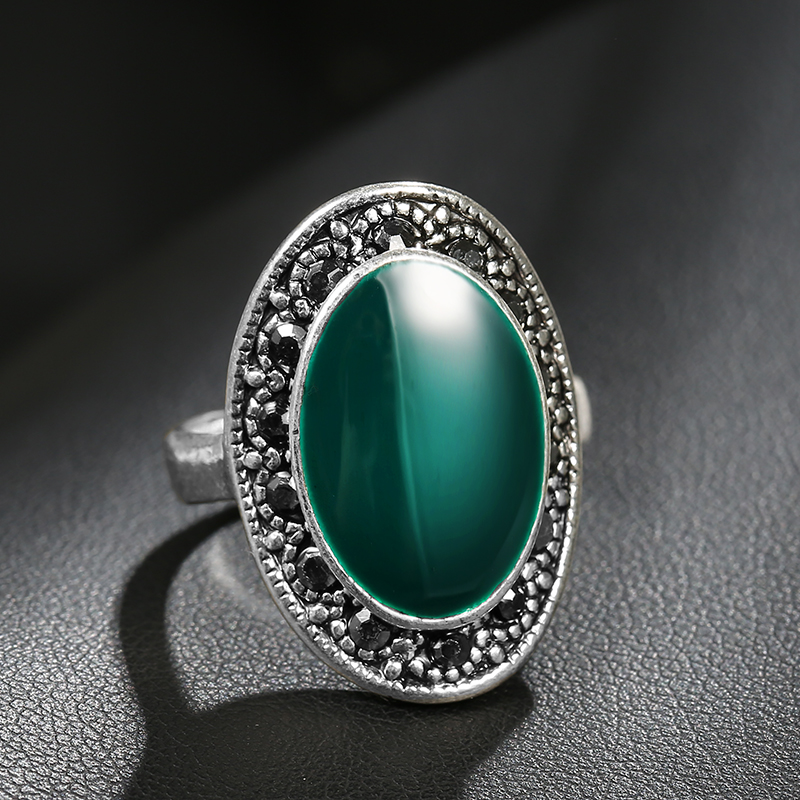 Women's Vintage Oval Enamel Ring Jewelry Rings Women Jewelry