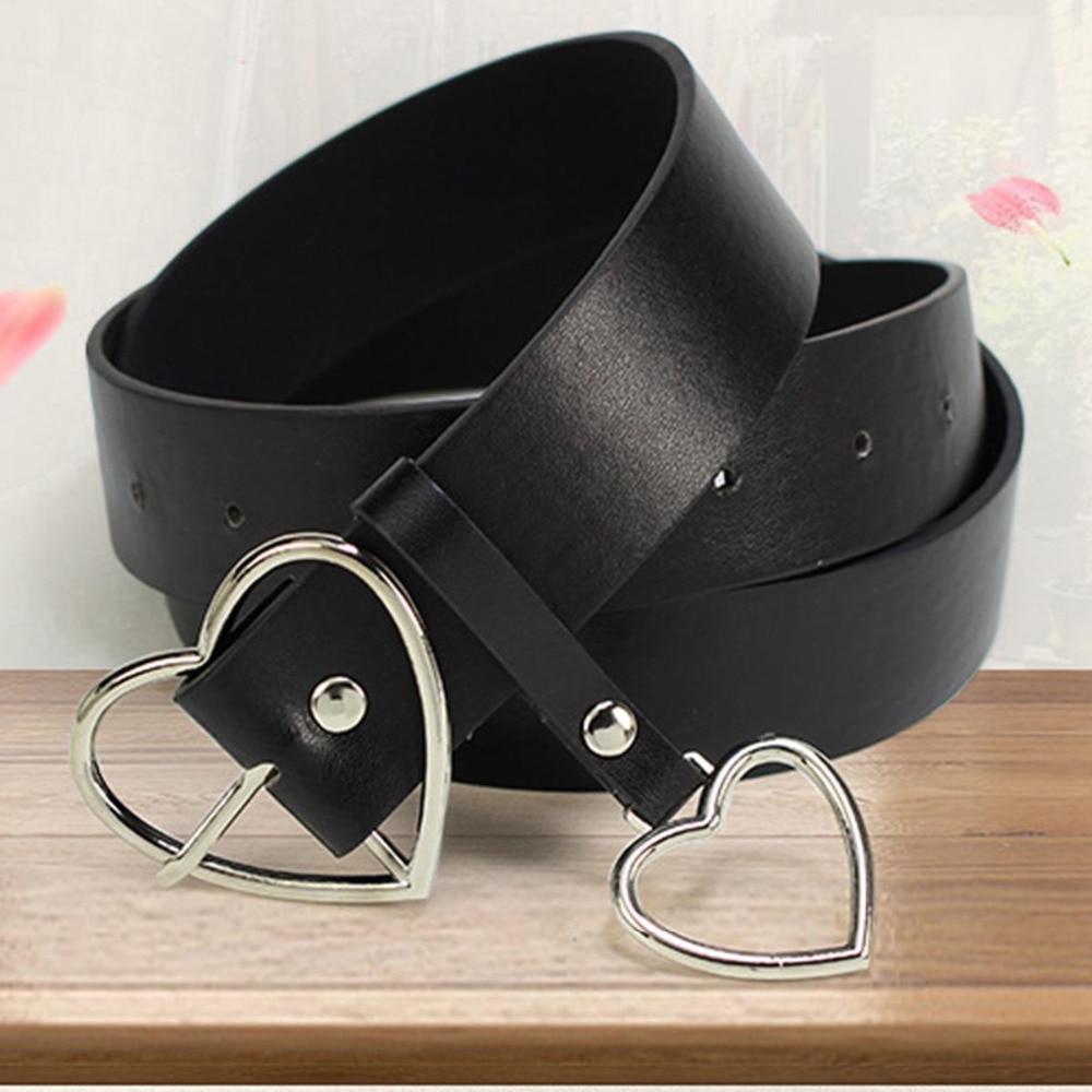 Fashion Leather PU Belts For Women Metal Heart Buckle Corset Female Belt Wedding Dress Party Decor Waistband Ladies Belts 105cm