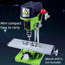 Мини-Прецизионный Многофункциональный фрезерный станок скамейка дрель тиски приспособление Рабочий стол