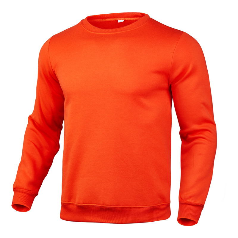 2020 new winter round neck cotton solid color fashion casual pullover jogging fitness sweatshirt track and field sweater S〜3XL 3
