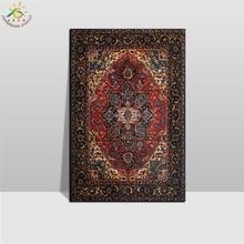 цена Islamic Art Pattern Wall Art Canvas Prints Painting Frame Scroll Painting Hanging Poster Vintage Wall Pictures for Living Room в интернет-магазинах