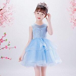 Платье принцессы Новинка 2020 года, Летнее Детское свадебное платье сарафан для выступлений на день рождения вечерние платья для девочек от 5 ...
