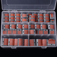 Juego de bloques de terminales de 60 unids/set, tuerca de palanca de resorte, bloques de terminales, Conector de Cable eléctrico reutilizable, herramientas para el hogar de soldadura aislante