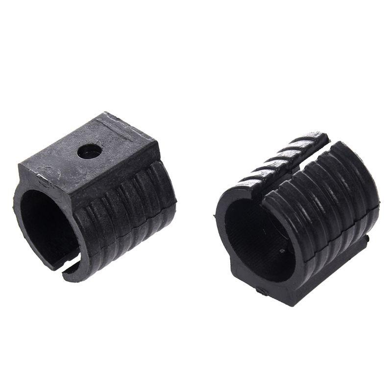 24 шт черный пластик 19 мм Диаметр круглое основание U форма стул Пол Glide