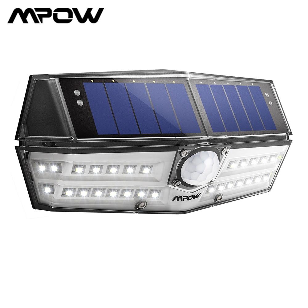 Mpow Waterpoof 30 LED Solar Lights Lamp PIR Motion Sensor 120° Security Garden