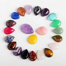 10 pçs/saco cura pedras preciosas de cristal grande reiki chakra caiu pedras semi preciosas festa decoração para casa 10x14mm