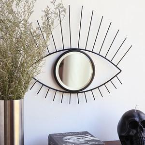 Северный Европейский легкий роскошный золотой железный глаз ресниц украшения для стен ресторана подвесной