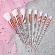 Makeup-Brushes-Set Foundation-Blending-Powder Diamond Eyeshadow Makeup-Tool-Kit Crystal