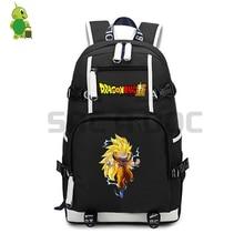 Dragon Ball Супер школьные сумки для подростков девочек мальчиков Супер Saiyan Goku Ssj3 рюкзак для ноутбука большой емкости дорожные сумки на плечо