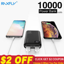 RAXFLY Mini Power Bank 10000mAh Dual USB Mi PowerBank For Xiaomi Fast Charger Dual Usb Ports External Battery Portable(China)