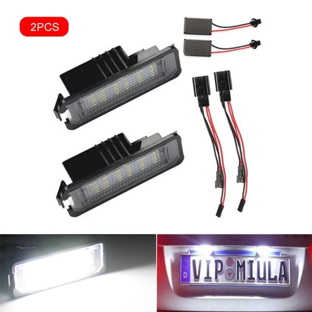 2 шт светодиодный светильник для номерного знака автомобиля
