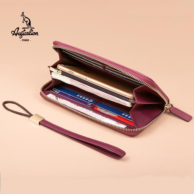 Women Wallet Fashion Lady Wristlet Handbags Long Money Bag Zipper Coin Purse Cards ID Holder Clutch Woman Wallet AUGTARLION