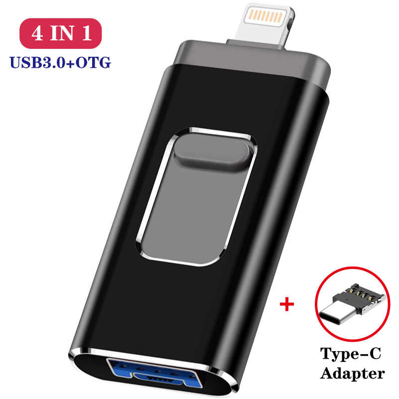 4in1 Otg Usb Flash Drive 8 Gb 16 Gb 32 Gb 64 Gb 128 Gb Voor Iphone Ipad Tablet Telefoon lightning Android Pen Drive Usb Stick