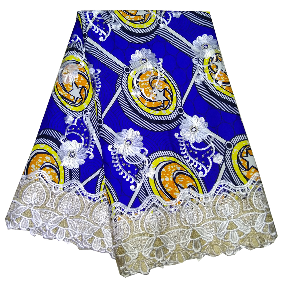 2019 New Arrival African Lace Fabric Party Dress DIY African Ankara Wax Fabric