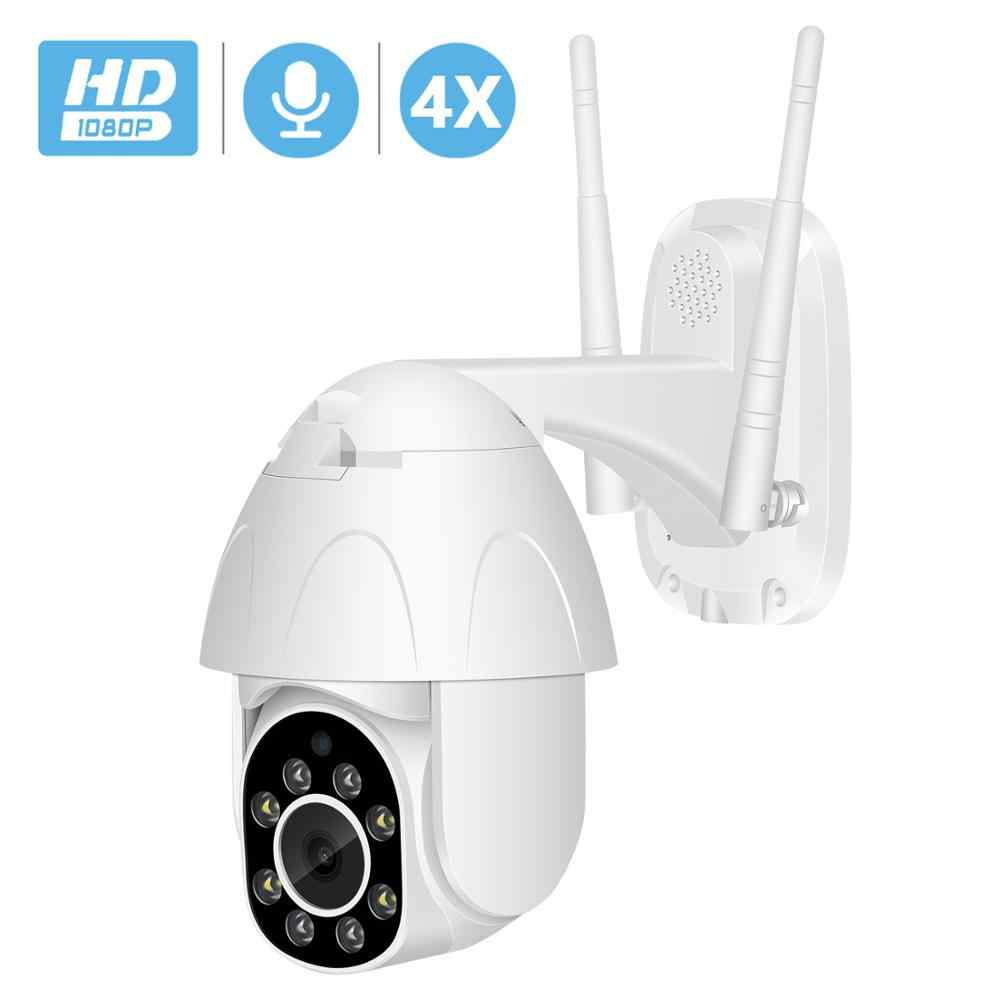 BESDER 2MP PTZ Camera WiFi 4X Digitale Zoom Speed Dome IP Camera Auto Tracking Audio Cloud Waterdichte CCTV Home Security camera