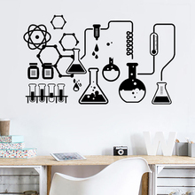 Science Chemical Lab Vinyl Art Wall Decals Scientist Office Chemistry School Stickers for Room Decoration Accessories Z300