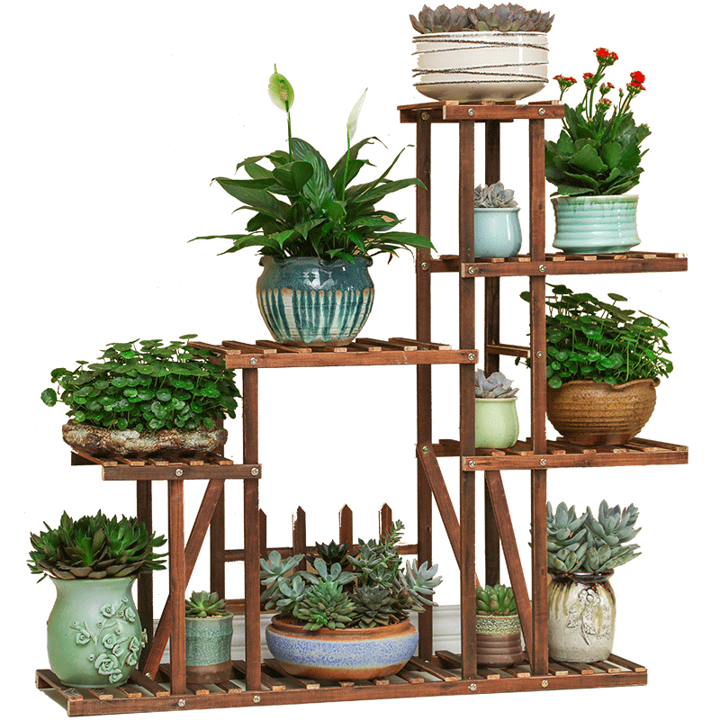 Indoor  Balcony A Living Room Solid Wood Quality Landing Type Household Storage Airs Multi storey|Plant Shelves| |  - title=