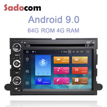 IPS 2 din Android 9.0 lecteur DVD de voiture 8 Core 64GB ROM 4GB RAM autoradio wifi GPS pour Ford Fusion Explorer F150 Edge Expedition(China)