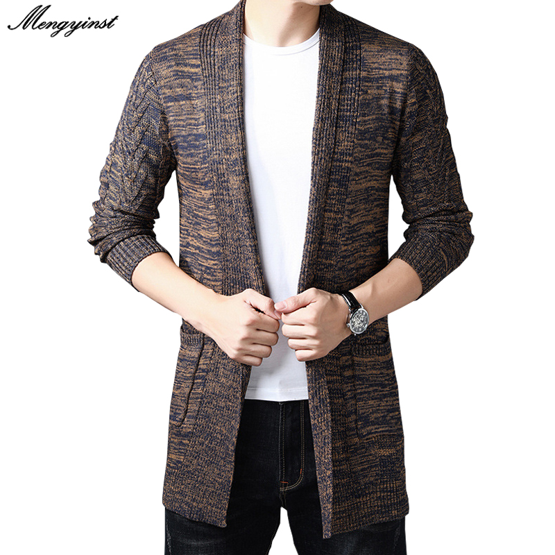 2020 Fashion Mens Cardigans Stylish Fashion Jacket Slim Long Sleeve Cotton Coat Casual High Quality Autumn Men's Cardigan Tops