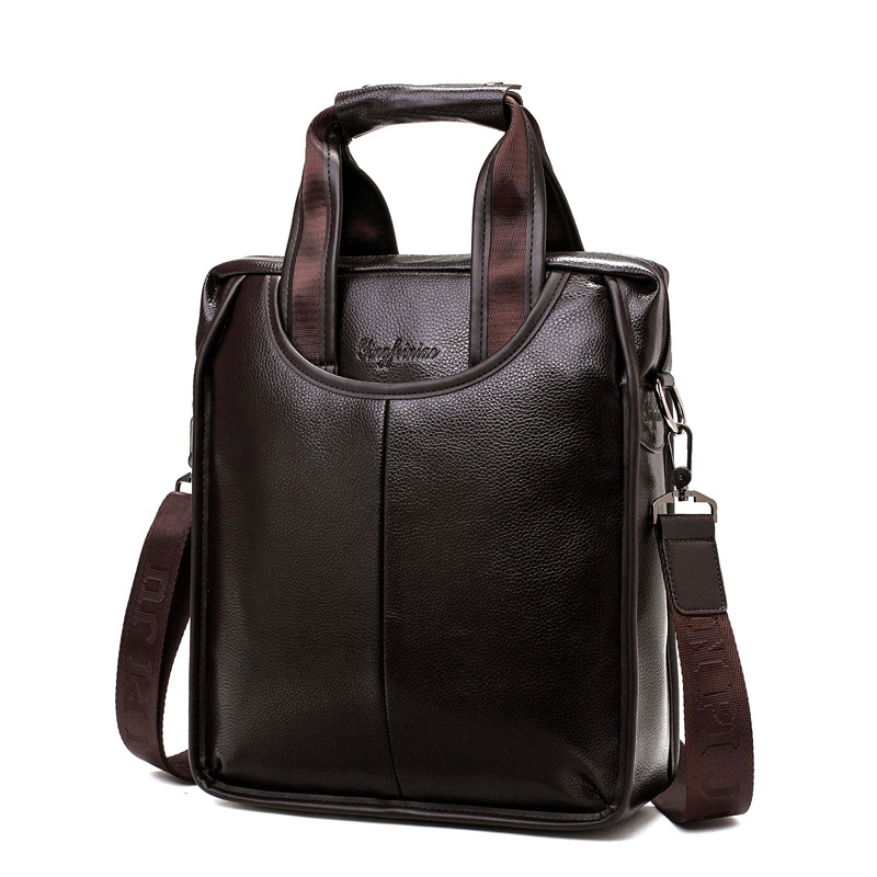 Vintage Men Crossbody Bags Quality Leather Male Messenger Bag For Man Shoulder Bag Business Casual Work Travel Bag High Capacity