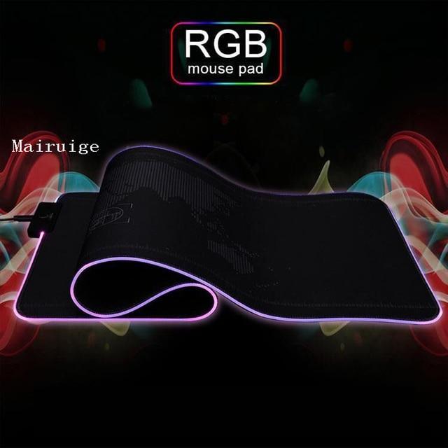 большой коврик для мыши mairuige rgb с черной застежкой компьютерной фотография