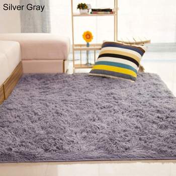 Grey Carpet Tie Dyeing Plush Soft Carpets For Living Room Bedroom Anti-slip Floor Mats Bedroom Water Absorption Carpet Rugs 2020 image
