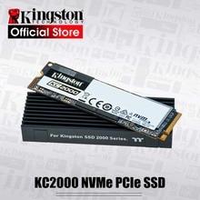קינגסטון KC2000 NVMe PCIe SSD Gen 3.0x4 בקר 96 שכבה 3D TLC NAND 500G 1TB הפנימי דיסק קשיח M.2 2280