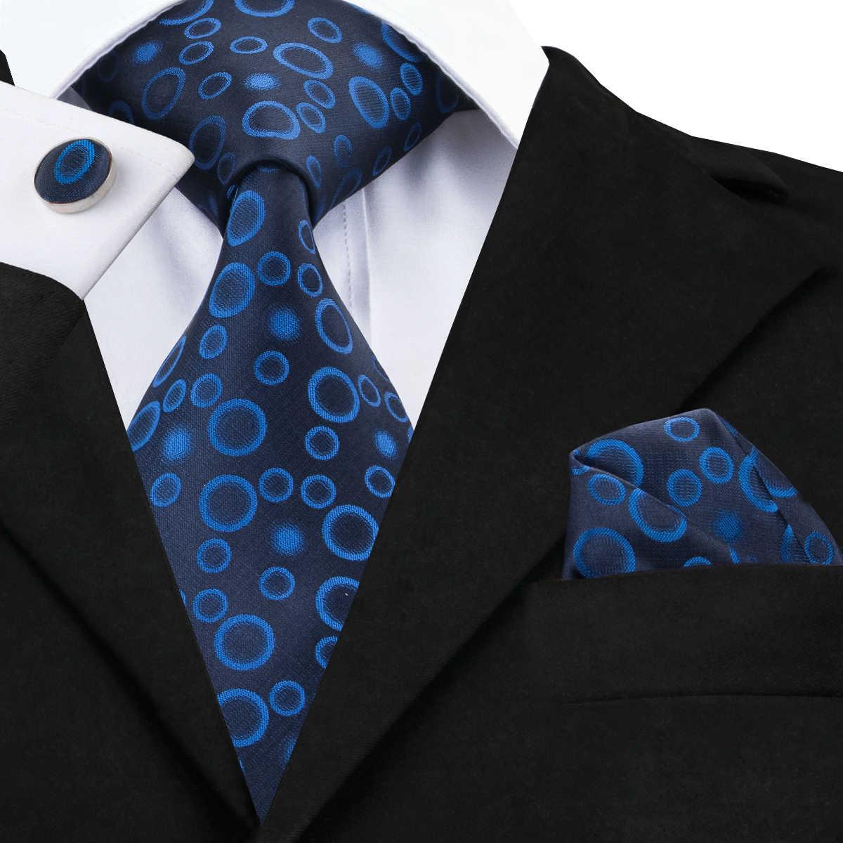 مرحبا التعادل الرجال التعادل الحرير المنديل أزرار أكمام مجموعة عالية الجودة الذهب الأحمر الأزرق الوردي الصلبة العلاقات للرجال حفل زفاف الأعمال ربطة العنق