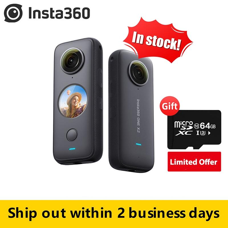 Insta360-Cámara de acción One X2 360, 5,7 K, vídeo VR, 10M, impermeable, Insta 360 One X2, casco submarino de bolsillo, Pro Sport Cam