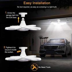 2020 Energy Saving LED Garage Lights Shop Work Lights 38W 3800lm E26 Foldable Fan Blade LED Lamps Professional Ceiling Lights
