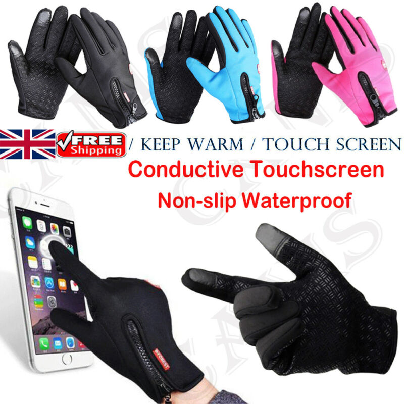 Winter Men Warm Gloves Wind Stopper Gloves Free Size Elastic Screen Touch Gloves