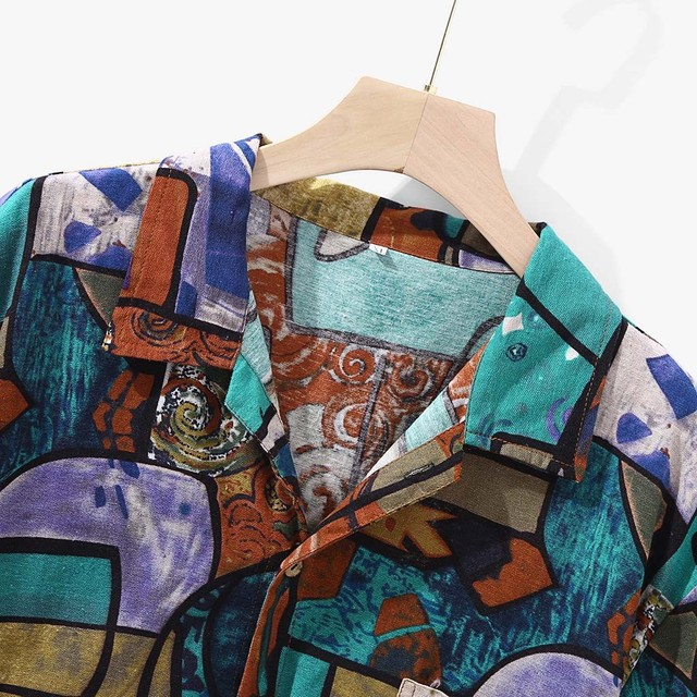 Womail 2020 New Arrivals Casual Print Brand Shirt Men Short Sleeve Button Tops Loose Fashion Men Beach Hawaiian Shirt M-4XL