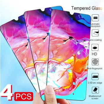 4pcs/Lot Tempered Glass for Samsung Galaxy A51 A11 A21 A31 A41 A61 A71 A81 A91 A01 M11 M21 M31 Screen Protector Protective Film image