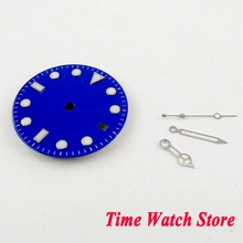 28.5mm no logo super luminous date window blue Watch Dial fit MIYOTA 8215 DG 2813 Automatic Movement with hands D103