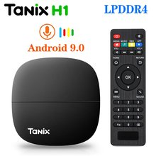 Tanix H1 LPDDR4 2GB 16GB TV Box Android 9.0 Hisilicon Hi3798M Quad Core 4K 30fps H.265 2.4G Wifi Google Player Youtube Netflix(China)