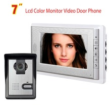 Video Doorbell System, 7 Inches Wired Video Door Phone Intercom Kit Support Monitoring, Unlock, Dual Way Intercom for villa