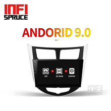32G Per Hyundai Solaris accent Verna i25 autoradio dvd IPS Android con il gps di navigazione radio video car stereo multimedia player(China)