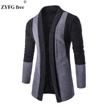 Mens Brand High Quality Casual Winter Coat 2016 New Fashion veste longue homme Stitching Cardigan