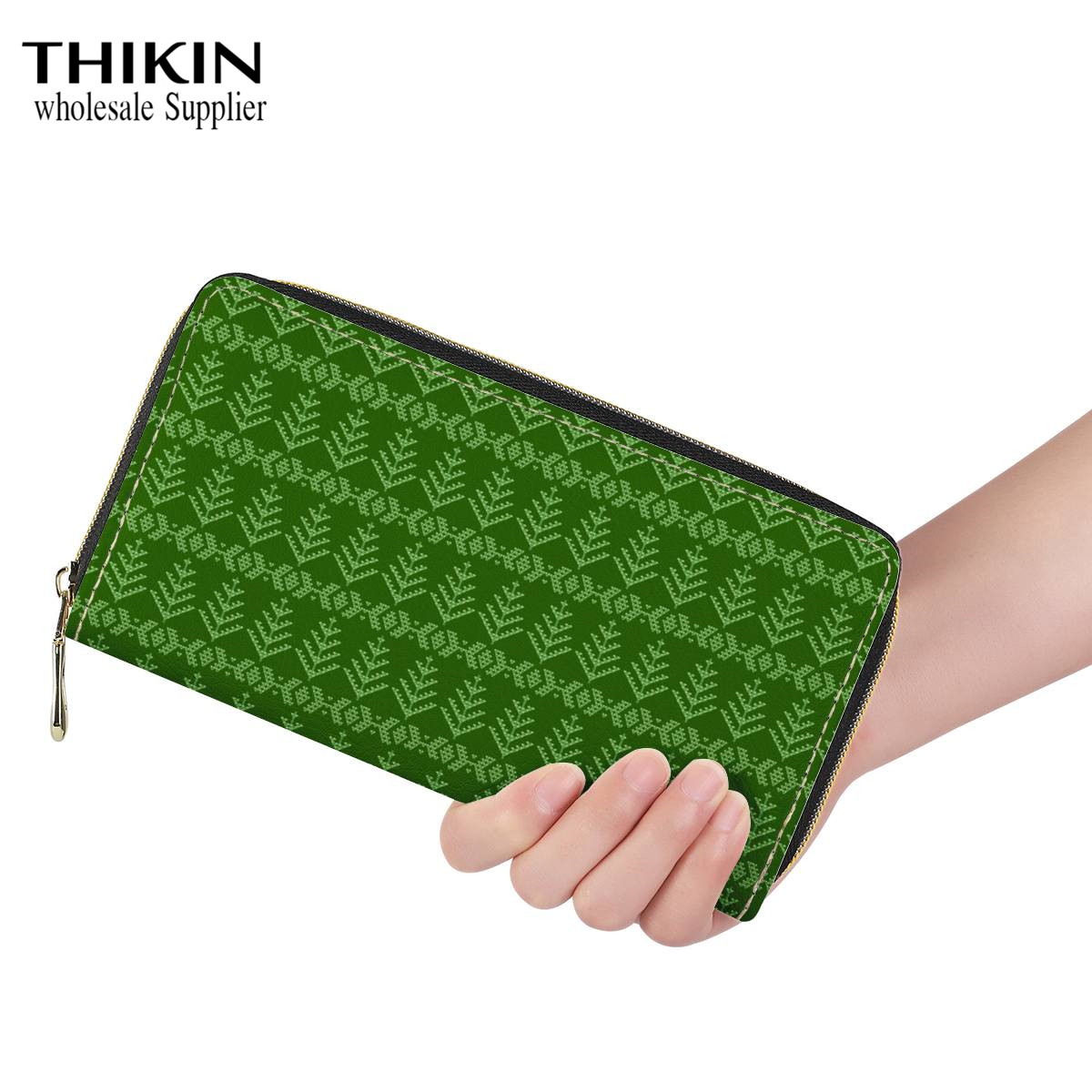 Thikin Reen Leaves Fawn Long Wallet