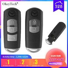 Okeytech 2/3 Кнопка автомобильный смарт ключ-брелок в виде ракушки для Mazda X-5 на высшем уровне Axela Atenza M3 M6 автоматический пульт дистанционного упра...