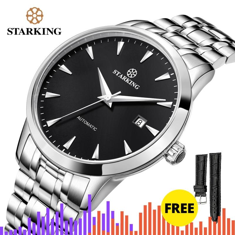 Relógio de Pulso Relógios de Negócios 5atm à Prova Starking Marca Original Relógio Masculino Automático Auto-vento Aço Inoxidável Dwaterproof Água Am0184
