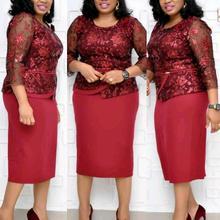 Стиль африканская женская одежда Дашики модное вышитое выдолбленное кружевное платье размер L XL XXL 3XL 4XL 521XL