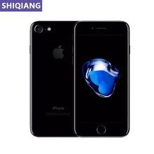 Original usado apple iphone 7 telefone 4.7in impressão digital desbloquear smartphone 2 + 32/128/256gb gps & nfc 7 + 12mp 1 sim los telefone móvel