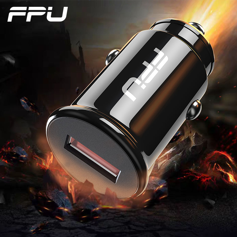 FPU Mini <font><b>USB</b></font> Car <font><b>Charger</b></font> Quick Charge 3.0 for iPhone QC QC3.0 Fast <font><b>Charger</b></font> Adapter in Car for Xiaomi mi 9 Samsung Mobile Phone image