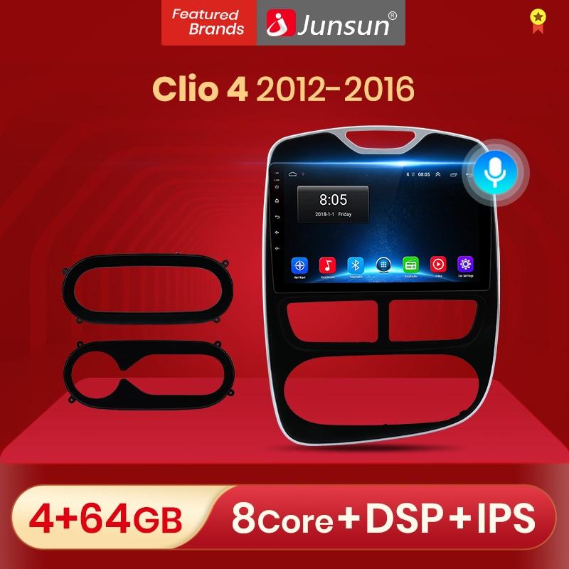Junsun V1 Android 10,0 DSP CarPlay автомобильный Радио мультимедийный видеоплеер Авто Радио Стерео GPS для Renault Clio 4 ZOE 2012 - 2016 2 Дина dvd