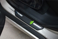 For Volvo XC60 2009 2012 XC90 S60 V60 CC V40 CC ABS Chrome Scuff Rear Door Plate Door Sill Protective Cover